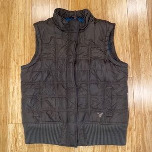 American eagle outfitters puffy brown vest
